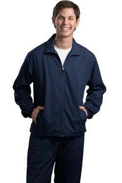 Men S Sport Tek Full Zip Wind Jacket